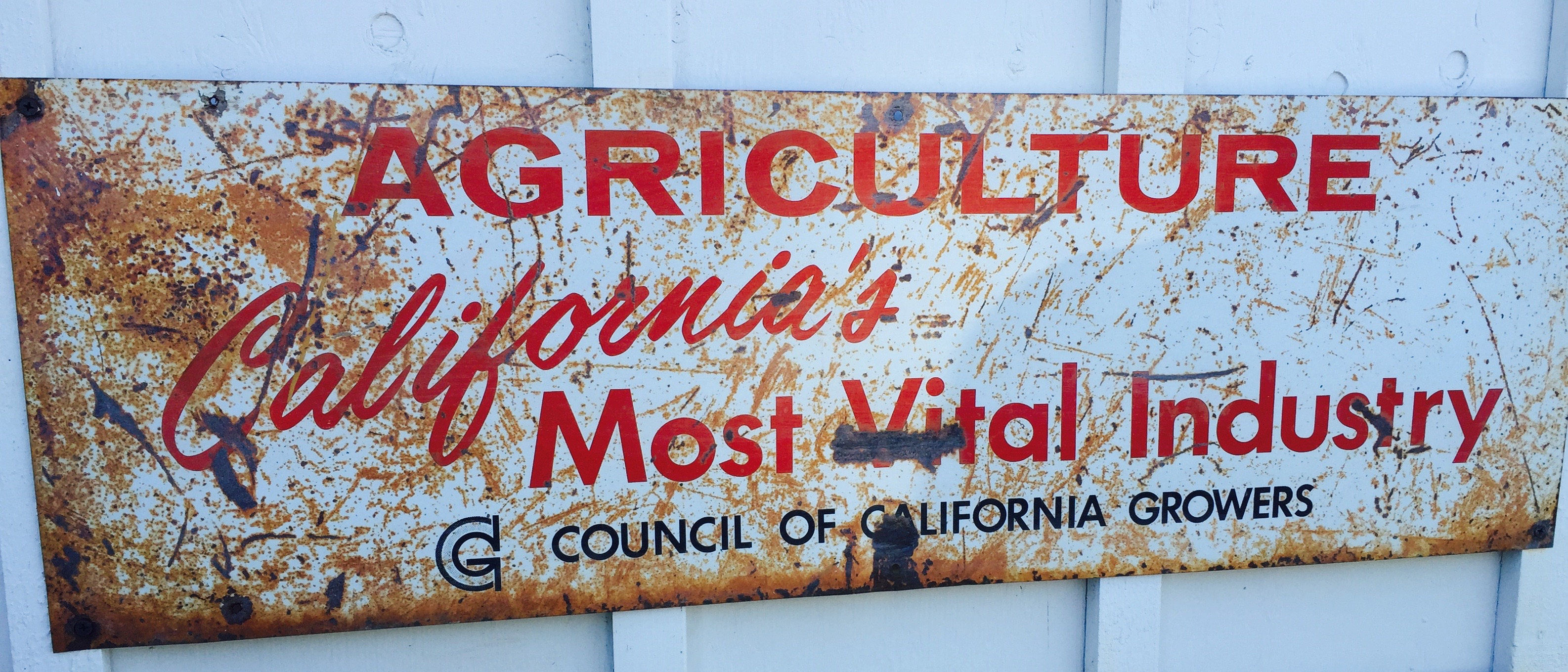CA agriculture sign