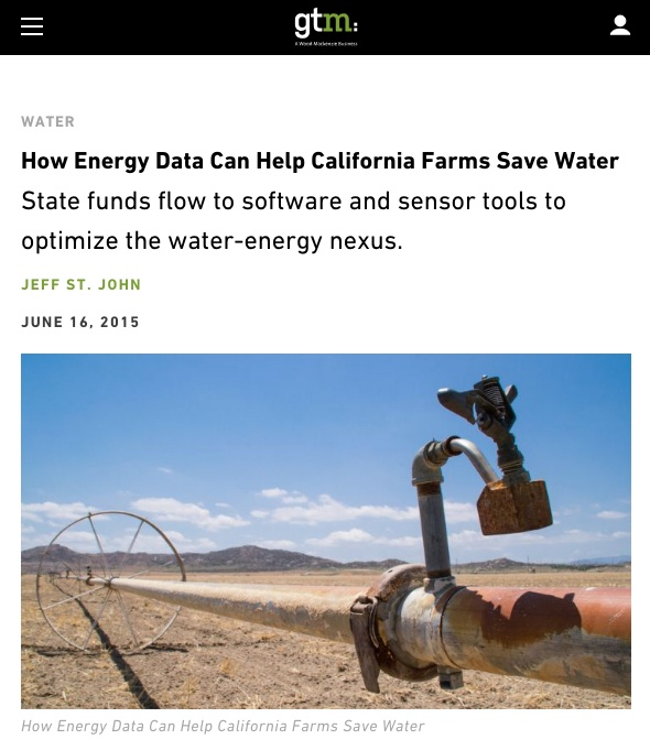 Greentech Media: How Energy Data Can Help California Farms Save Water